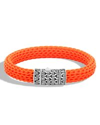John Hardy | Orange Men's Classic Chain Rubber Push-clasp Bracelet for Men | Lyst