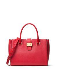 MICHAEL Michael Kors | Black Bond Medium Leather Satchel Bag | Lyst