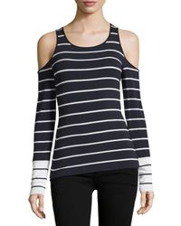 Bailey 44 | Blue Harbor Master Cold-shoulder Striped Top | Lyst