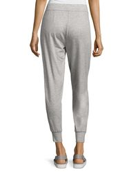 Eileen Fisher | Gray Tencel® Stretch Terry Jogger Pants | Lyst