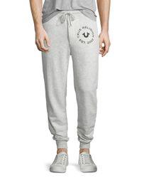 True Religion   Gray Slim-fit Sweatpants for Men   Lyst