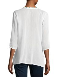 Johnny Was | White Butterfly Dreams Embroidered Blouse | Lyst