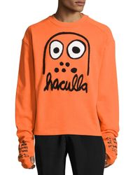 Haculla | Orange Battle Buddy Logo Sweatshirt for Men | Lyst