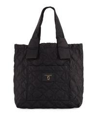 Marc Jacobs | Black Quilted Nylon Knot Tote Bag | Lyst
