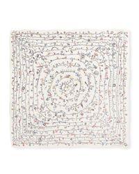 Alexander McQueen - Multicolor Heart Chain Square Voile Scarf - Lyst