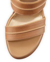 Stuart Weitzman - Multicolor Abandon Leather Ankle-wrap Wedge Sandal - Lyst