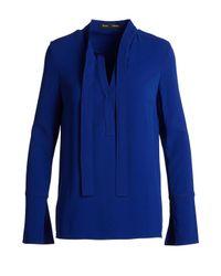 Proenza Schouler - Blue Blse/ls Tie Nk Fr Cuff Tunic - Lyst