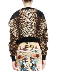 Givenchy - Multicolor Leopard-print Cropped Pullover - Lyst