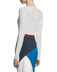 ESCADA | White Needle-drop Sweater With Tank | Lyst
