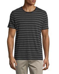 Vince | Black Shadow-stripe Short-sleeve Tee for Men | Lyst