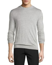 Theory   Blue Riland Silk-cashmere Crewneck Sweater for Men   Lyst