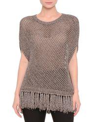 Valentino | Short-sleeve Metallic-mesh Popover | Lyst