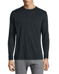 Helmut Lang | Black Collarless Pullover for Men | Lyst