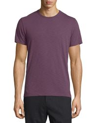 Vince | Purple Short-sleeve Slub Crewneck T-shirt for Men | Lyst
