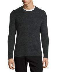 Vince - Black Thermal Long-sleeve Crewneck T-shirt for Men - Lyst