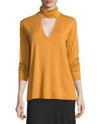 Rachel Pally | Orange Marla Cutout Turtleneck Top | Lyst