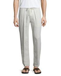 James Perse | Metallic Drawstring Utility Linen Pants for Men | Lyst