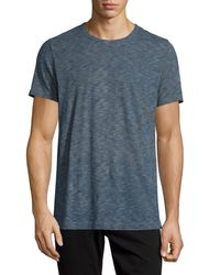 Vince | Blue Vintage Melange Slub Crewneck T-shirt for Men | Lyst