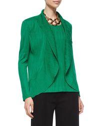 Misook - Green Textured Cascade Jacket - Lyst