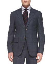 Isaia | Blue Plaid Two-piece Suit for Men | Lyst