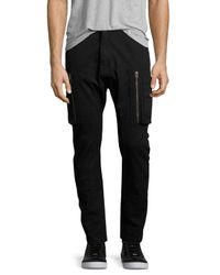 Helmut Lang | Black Slim-fit Utility Cargo Pants for Men | Lyst