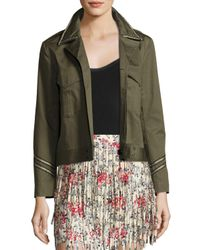 Zadig & Voltaire   Green Kalen Cotton Button-front Jacket   Lyst