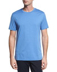 Vince | Blue Clean Jersey Crewneck T-shirt for Men | Lyst