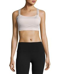 Brooks | Gray Juno Low-impact Sports Bra | Lyst