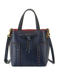 Tory Burch | Blue Block-t Brogue Nano Tote Bag | Lyst