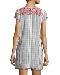 Calypso St. Barth - Multicolor Pinarma Lace-up Striped Sheath Dress - Lyst