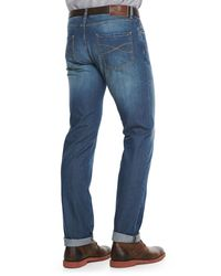 Brunello Cucinelli | Blue Lightweight Medium Wash Jeans for Men | Lyst