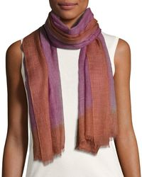 Bajra - Gray Wool-blend Lightweight Scarf - Lyst