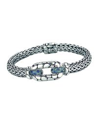 John Hardy - Kali Sterling Silver Bangle Bracelet With Blue Topaz And Iolite - Lyst