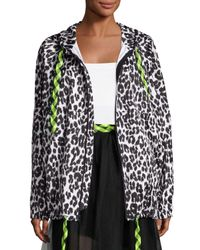 Marc Jacobs - Black Leopard-print Hooded Coat - Lyst