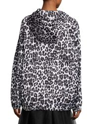 Marc Jacobs | Black Leopard-print Hooded Coat | Lyst