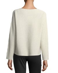 Eileen Fisher - White Washable Wool Box Top - Lyst