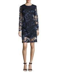 Haney - Blue Clara Laser-cut Lace Shift Dress - Lyst