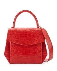 Nancy Gonzalez - Crocodile Large Structured Top-handle Bag - Lyst