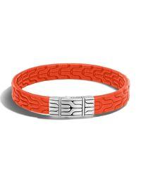John Hardy - Orange Classic Chain Men's Leather Bracelet for Men - Lyst