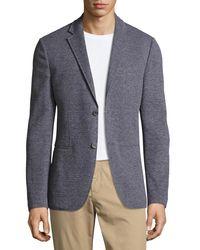 Michael Kors - Black Birdseye Knit Two-button Blazer for Men - Lyst