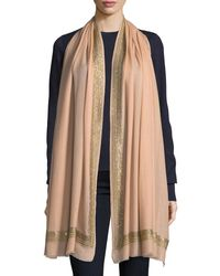 Janavi - Pink Diamonds Are Forever Stones Cashmere Stole - Lyst