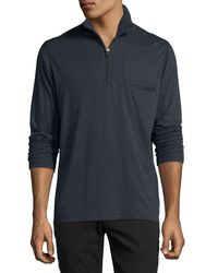 Billy Reid - Blue Jordan Half-zip Pullover for Men - Lyst