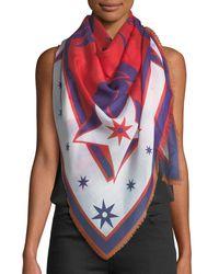 Givenchy - Multicolor Star Silk-blend Pashmina - Lyst
