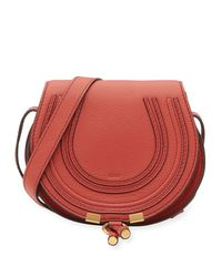 Chloé | Red Marcie Small Leather Crossbody Bag | Lyst