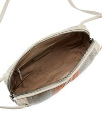 Bottega Veneta | Gray Striped Leather Pillow Bag | Lyst