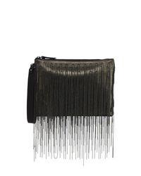 Brunello Cucinelli | Green Monili Waterfall Medium Crossbody Pouch Bag | Lyst