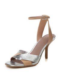 Diane von Furstenberg - Multicolor Fiona Matte/metallic Leather Ankle-strap Sandal - Lyst
