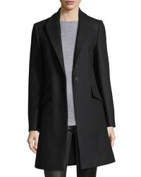 Rag & Bone Black Duchess One-button Tailored 3-pocket Coat