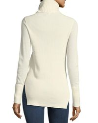 Veronica Beard | White Asa Long-sleeve Turtleneck Cashmere Sweater | Lyst