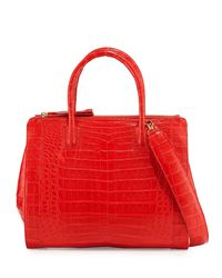 Nancy Gonzalez | Red Crocodile Large Double-zip Tote Bag | Lyst